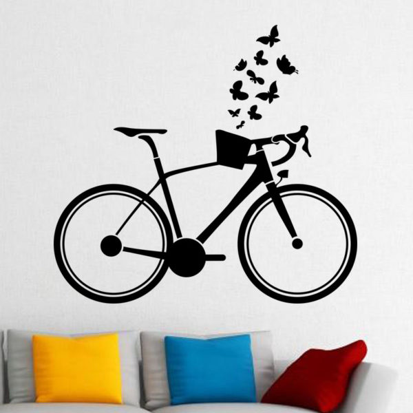 Ladies Cycle wall decal.