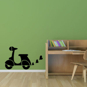 The scooter skyline wall decal.