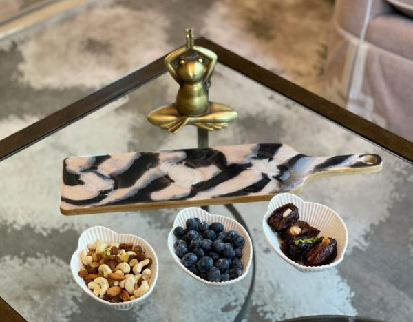 Resin Serving Platter with bowls