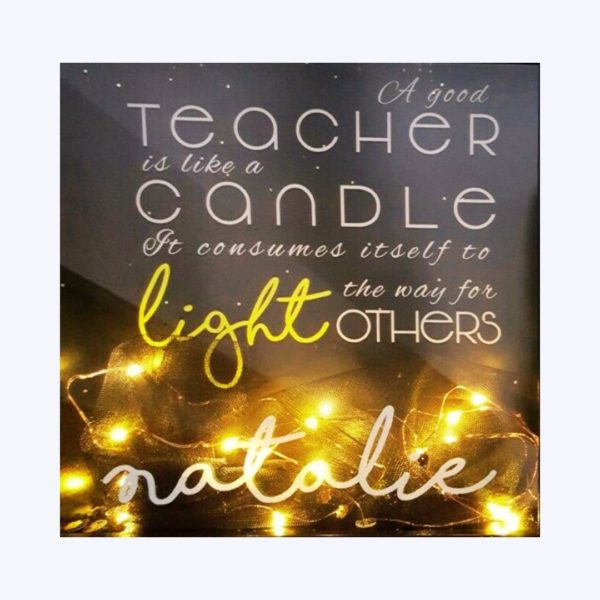 Personalised Teacher Frame with Fairy Lights template