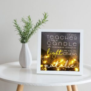 Personalised Teacher Frame with Fairy Lights