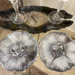 Wine glass holder with coasters