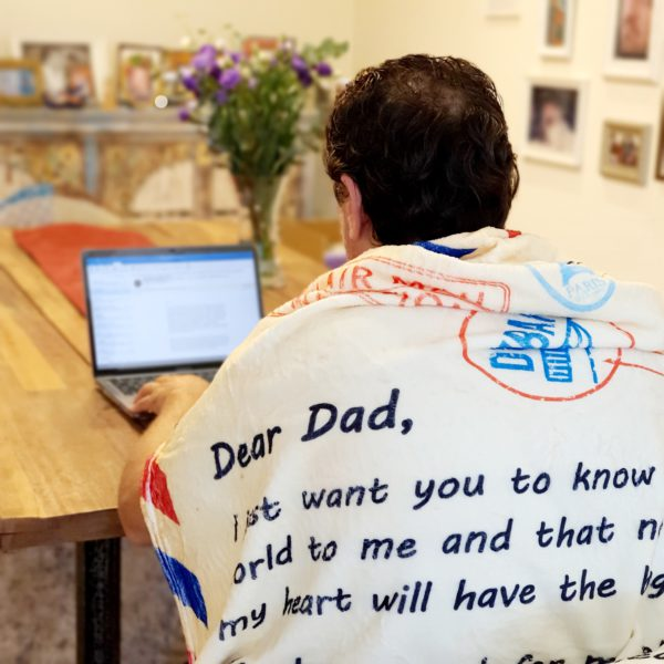English Fathers Day Blanket Laptop