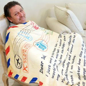 h Fathers Day Blanket- Sitting