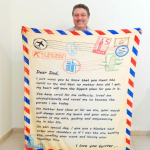 English Fathers Day Blanket Standing