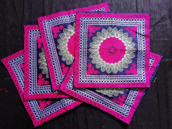 Colourful Embroidered Cushion Cover Set